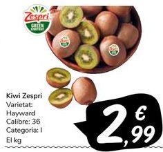 Oferta de Kiwi Zespri por 2,99€