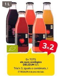 Oferta de En TODOS los zumos ecológicos DELIZUM  por
