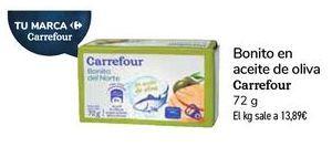 Oferta de Bonito en aceite de oliva Carrefour  por 1€