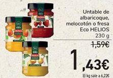 Oferta de Unable de albaricoque, melocotón o fresa Eco HELIOS  por 1,43€
