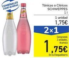 Oferta de Tónica o Cítricos SCHWEPPES por 1,75€