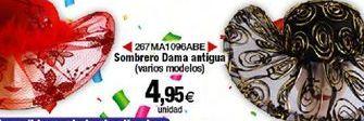 Oferta de Sombrero Dama antigua por 4,95€