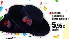 Oferta de Sombrero zorro adulto  por 5,95€
