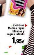 Oferta de Medias rayas blancas y negras infantil por 1,95€