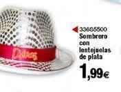 Oferta de Sombrero con lentejuela de plata  por 1,99€