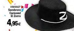 Oferta de Sombrero carnaval El zorro por 4,95€