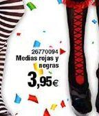 Oferta de Medias rojas y negras  por 3,95€