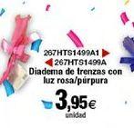 Oferta de Diadema de trenzas con luz rosa/purpura  por 3,95€