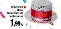 Oferta de Mini sombrero de lentejuelas por 1,99€
