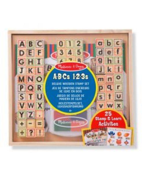 Oferta de Set estampar ABC 123 madera deluxe por 24,95€
