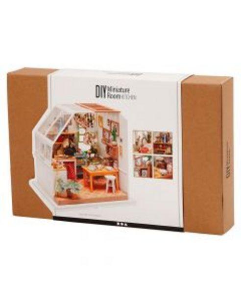 Oferta de DIY habitación miniatura cocina 18,7x19x16,5cm por 44,95€