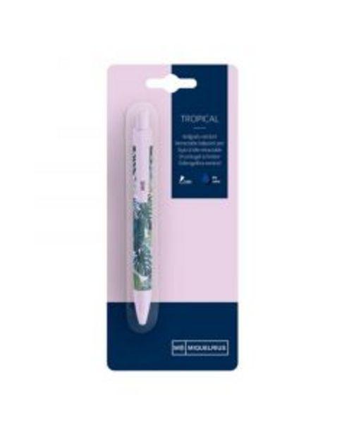 Oferta de Bolígrafo tinta azul tropical blíster 1 unidad por 1,5€