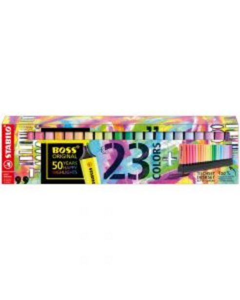 Oferta de Stabilo Boss set de mesa 23 colores 50 aniversario por 29,95€