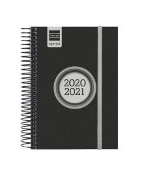 Oferta de Agenda espiral Label E8 negro día página 2020/2021 por 10,5€