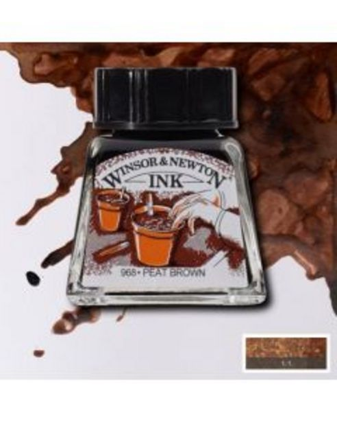Oferta de Tinta china Winsor and Newton pardo sepia por 3,85€