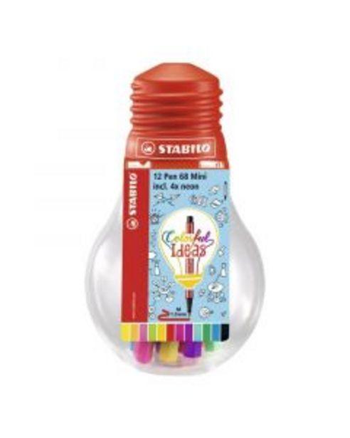 Oferta de Stabilo Pen 68 Mini bombilla Colorful 12 unidades por 13,75€