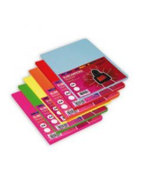 Oferta de Subcarpeta A4 paquete 15uds 180gr color surtido intenso por 3,8€