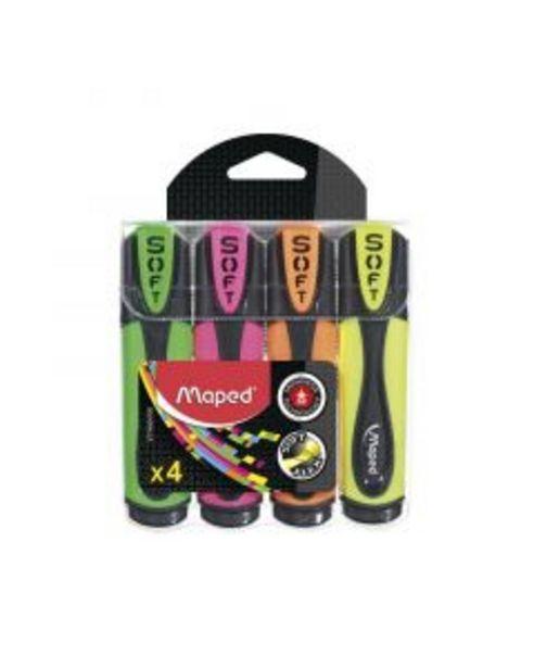 Oferta de Marcador fluorescente Soft blíster 4 colores por 6,5€