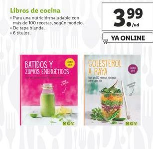 Oferta de Libros de cocina por 3,99€