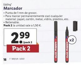Oferta de Marcadores Edding por 2,99€