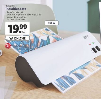 Oferta de Plastificadora United Office por 19,99€