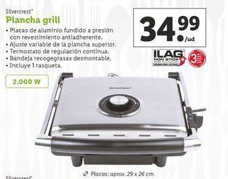 Oferta de Plancha grill SilverCrest por 34,99€