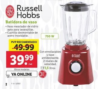 Oferta de Batidora Russell Hobbs por 39,99€