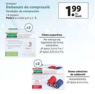 Oferta de Vendas sensiplast por 1,99€