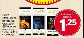 Oferta de Chocolate Lindt por 1,25€