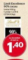 Oferta de Chocolate Lindt por 1,4€