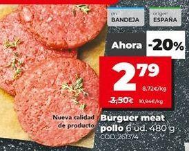 Oferta de Hamburguesas por 2,79€