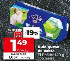 Oferta de Rulo de queso de cabra por 1,49€