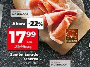 Oferta de Jamón curado Navidul por 17,99€