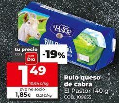 Oferta de Queso de cabra El Pastor por 1,49€