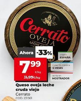 Oferta de Queso de oveja Cerrato por 7,99€