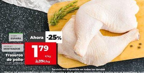Oferta de Traseros de pollo por 1,79€