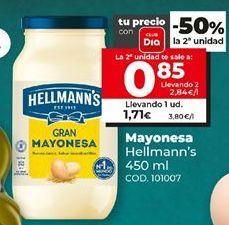Oferta de Mayonesa Hellmann's por 1,71€