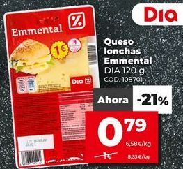 Oferta de Queso en lonchas por 0,79€