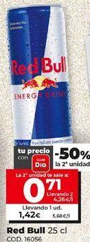 Oferta de Bebida energética Red Bull por 1,42€