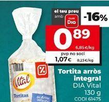 Oferta de Tortitas de arroz Dia por 0,89€