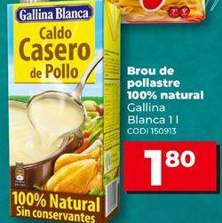 Oferta de Caldo de pollo Gallina Blanca por 1,8€