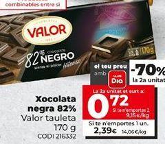 Oferta de Chocolate negro Valor por 2,39€