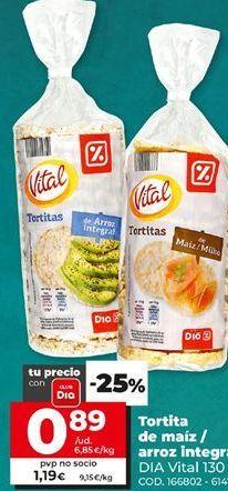 Oferta de Torta de maíz Dia por 0,89€