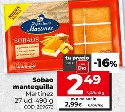 Oferta de Sobaos Martínez por 2,49€