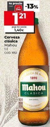 Oferta de Cerveza Mahou por 1,21€