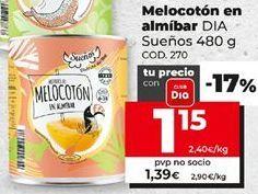 Oferta de Melocotón en almíbar Dia por 1,15€