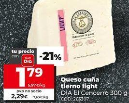Oferta de Queso cuña Dia por 1,79€