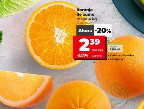 Oferta de Naranjas de zumo por 2,39€