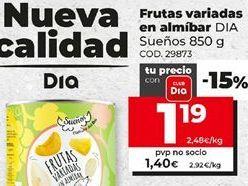 Oferta de Fruta en almíbar Dia por 1,19€