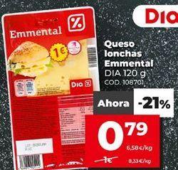 Oferta de Queso en lonchas Dia por 0,79€